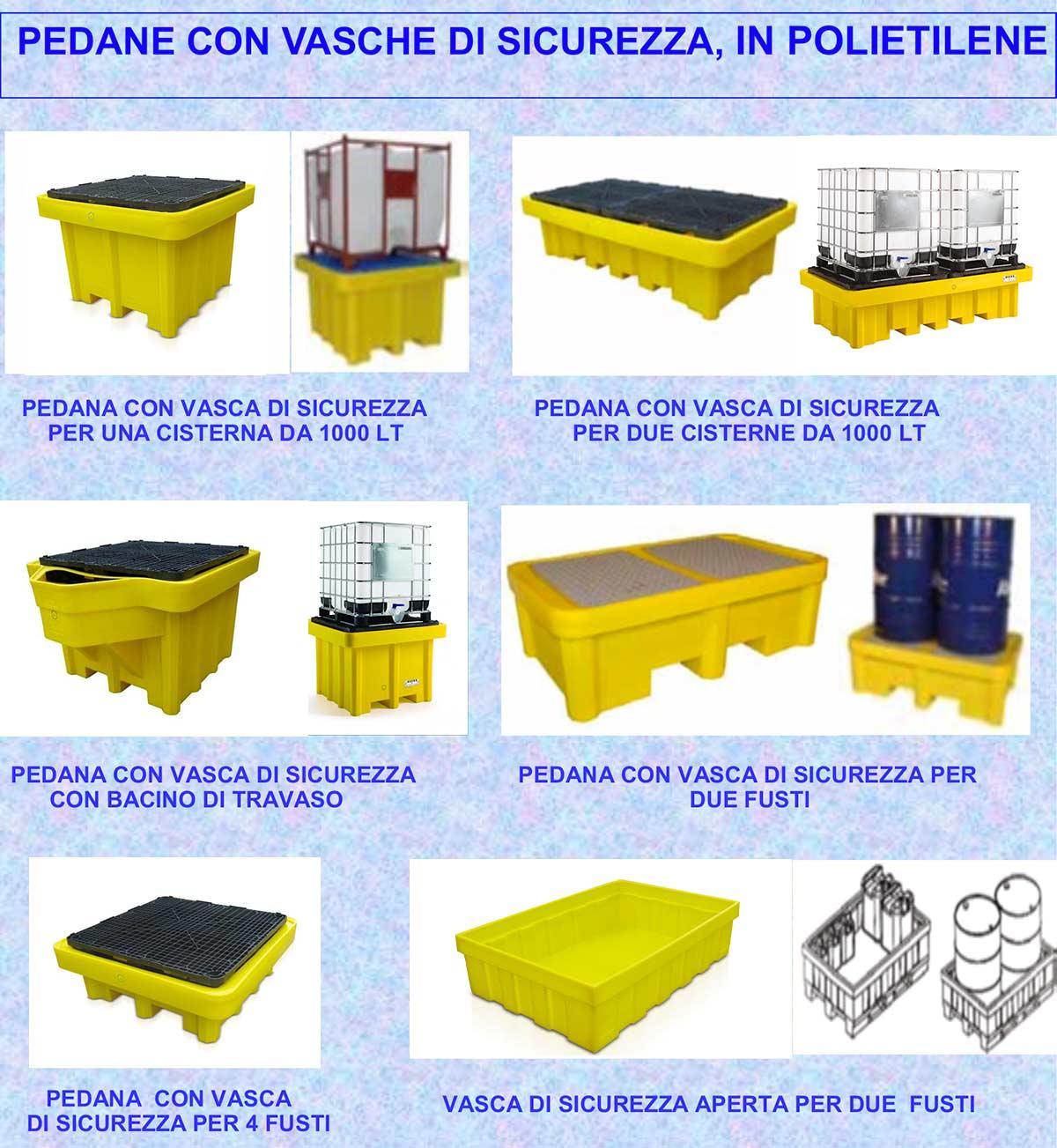Pesaresi | Pedane con vasche di sicurezza polietilene