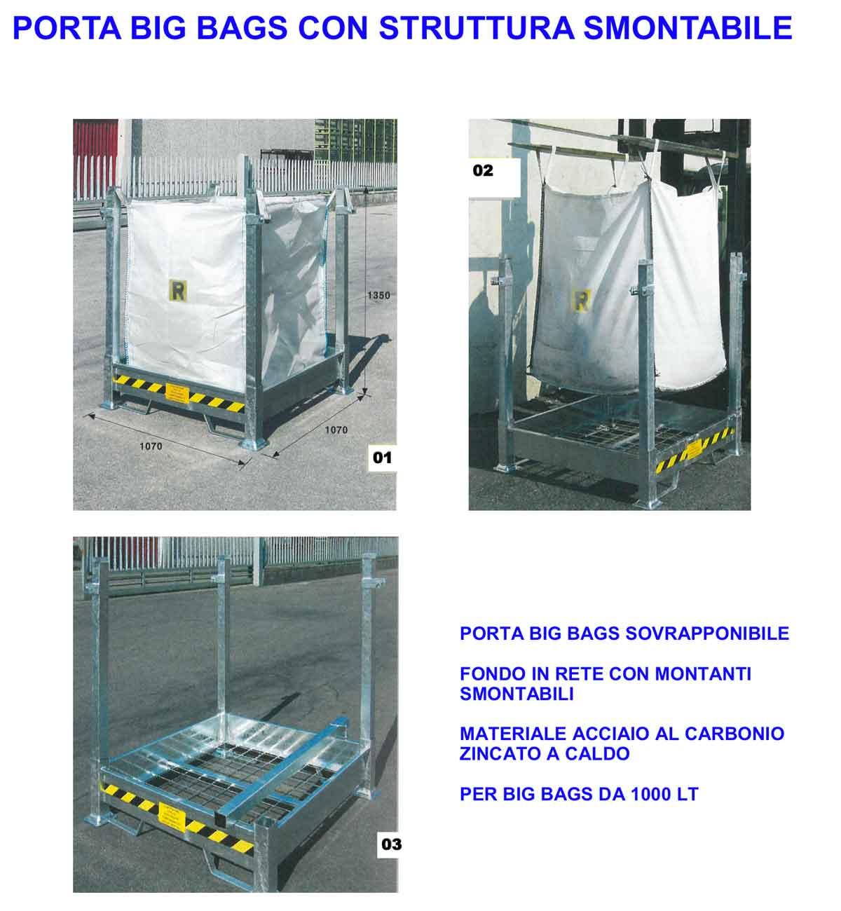 Pesaresi | Porta Big-bags struttura smontabile